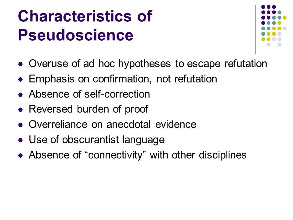 Characteristics of Pseudoscience