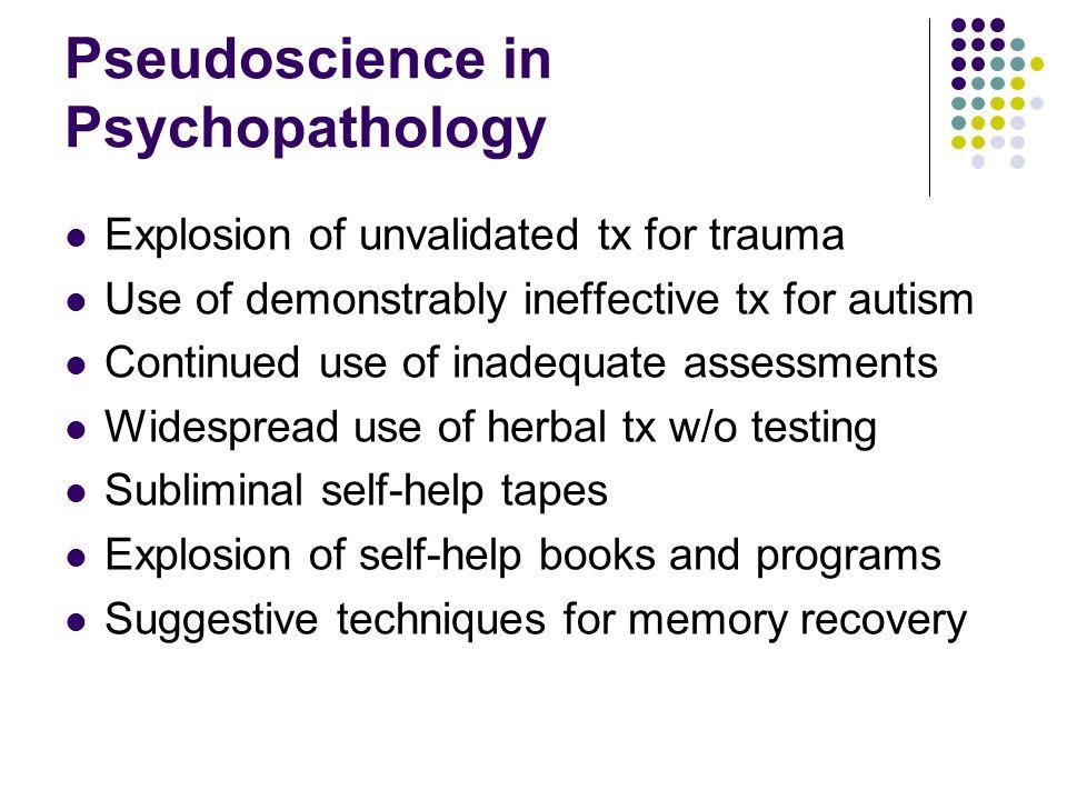 Pseudoscience in Psychopathology