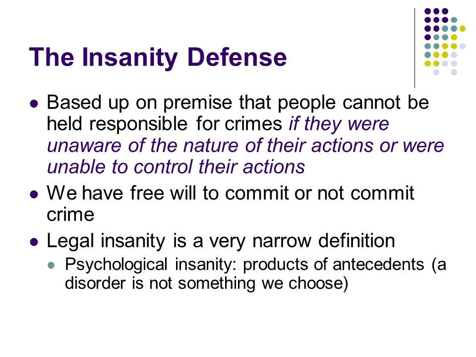 The Insanity Defense