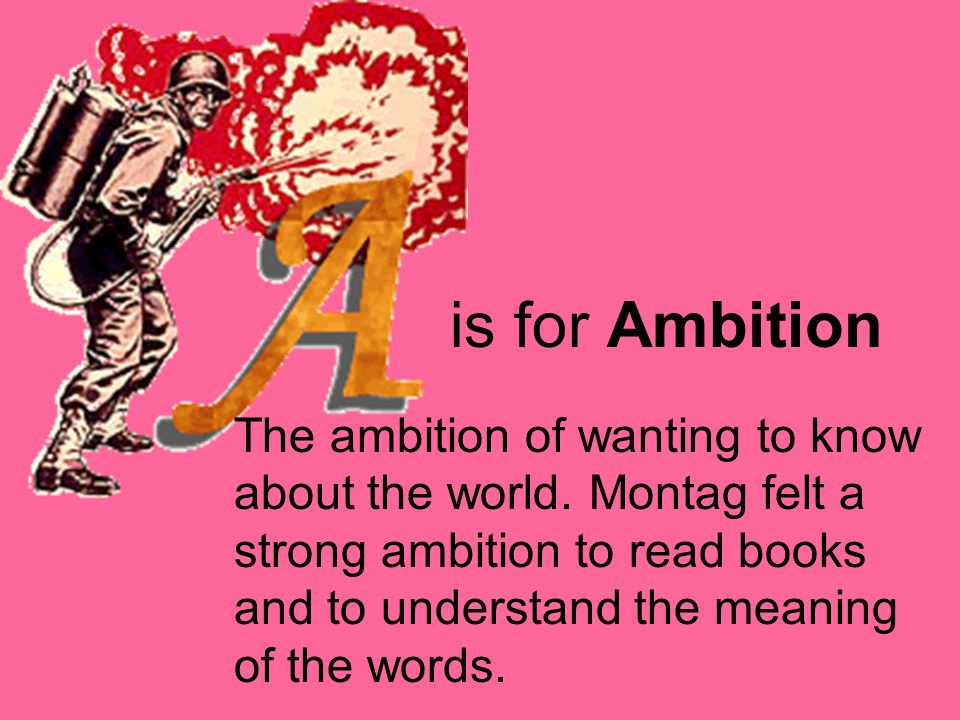 is for Ambition