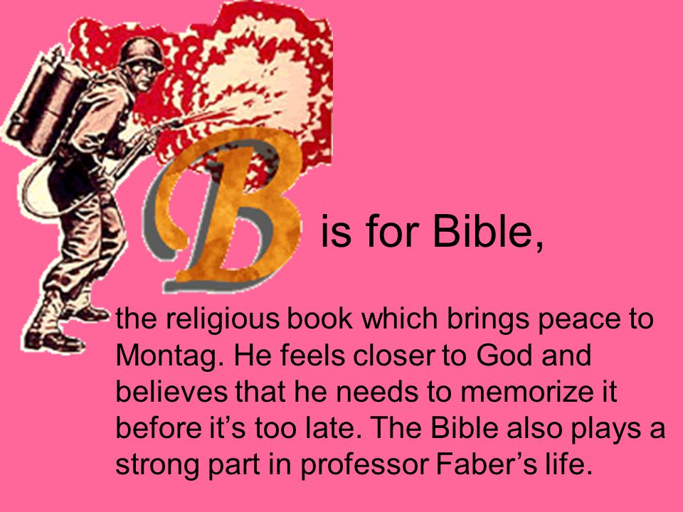 is for Bible,