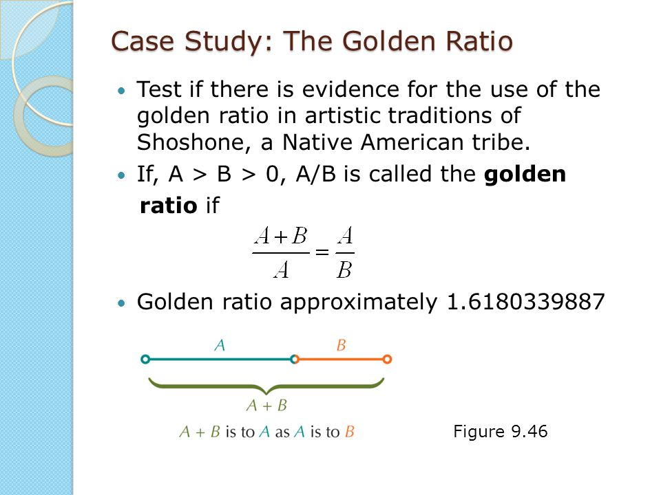 Case Study: The Golden Ratio