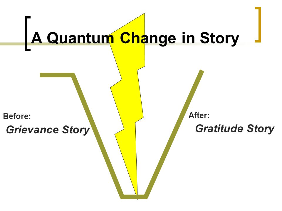A Quantum Change in Story