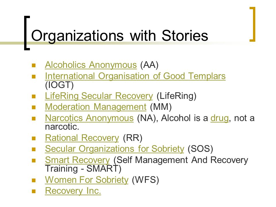 Organizations with Stories