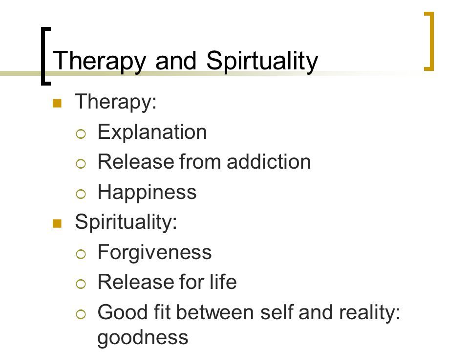 Therapy and Spirtuality