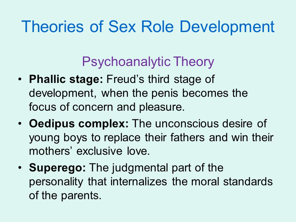 Theories of Sex Role Development