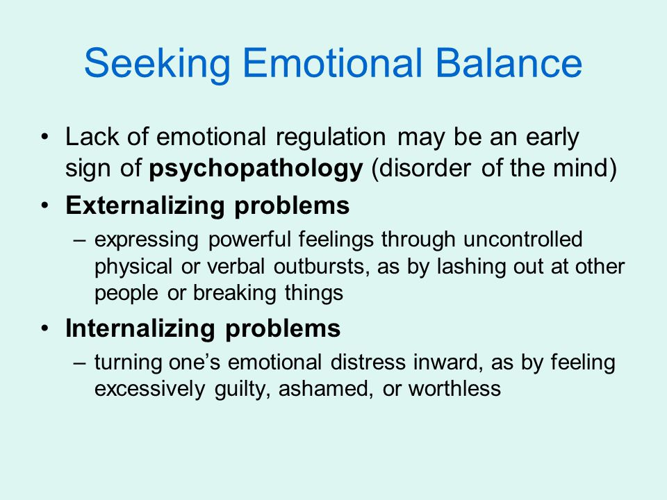 Seeking Emotional Balance