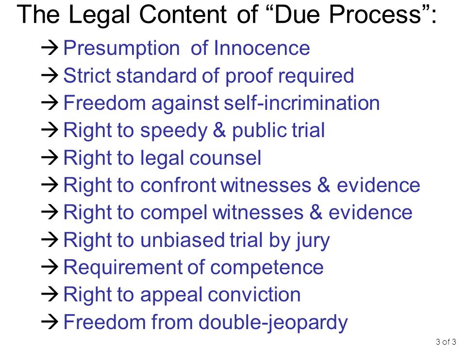 The Legal Content of Due Process :