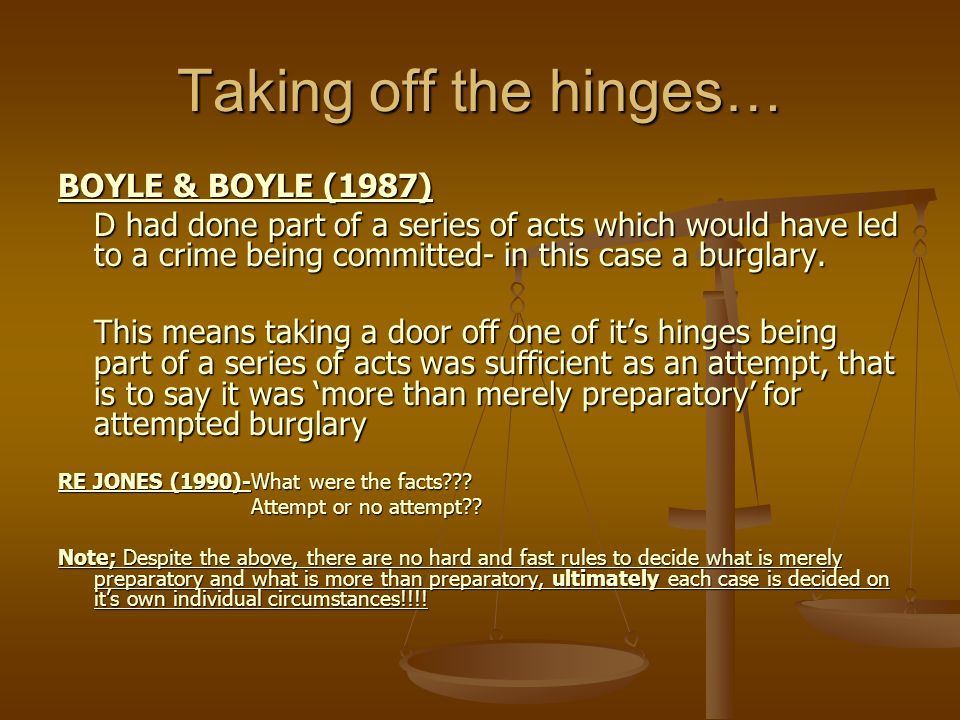 Taking off the hinges… BOYLE & BOYLE (1987)