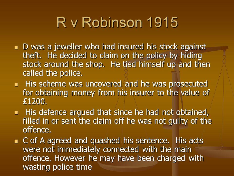 R v Robinson 1915