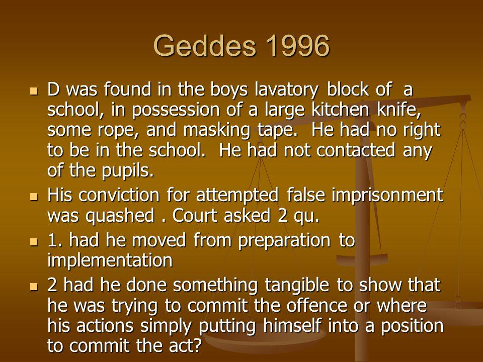 Geddes 1996