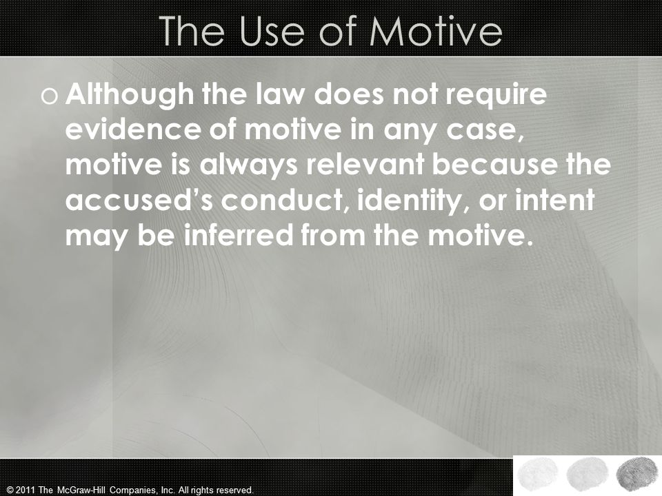 The Use of Motive