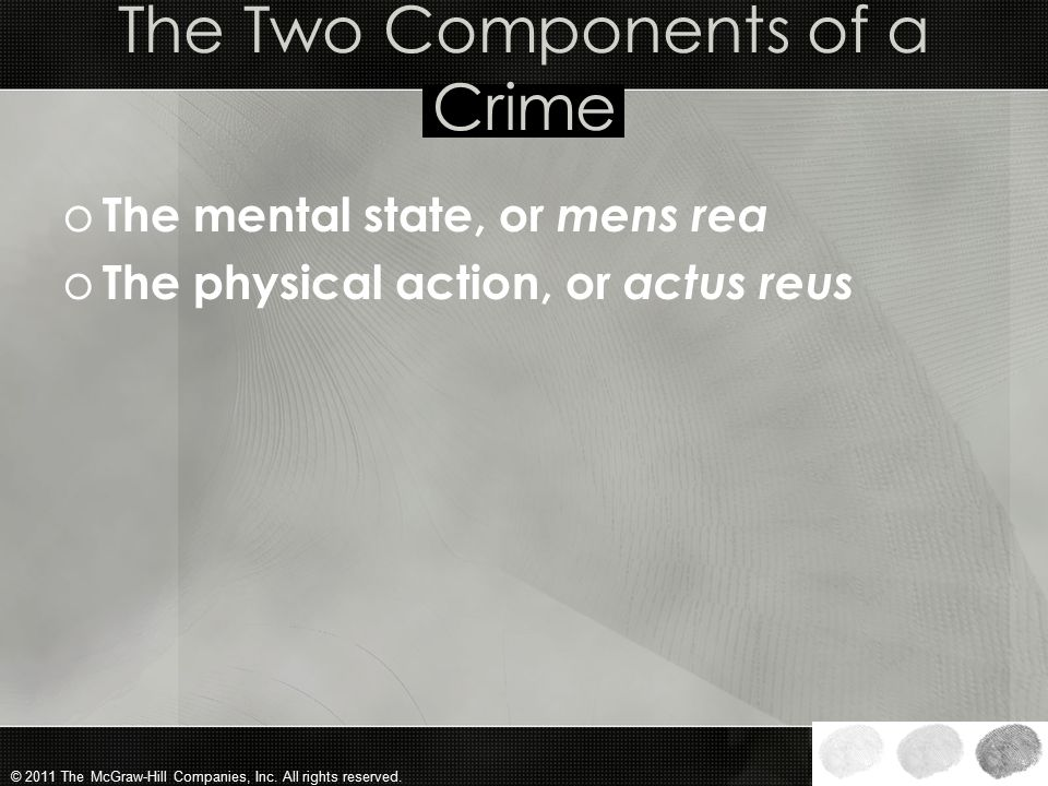 The Two Components of a Crime