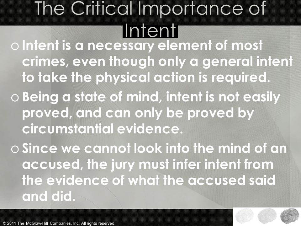 The Critical Importance of Intent