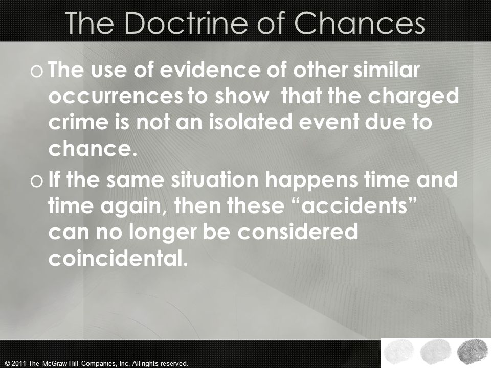 The Doctrine of Chances