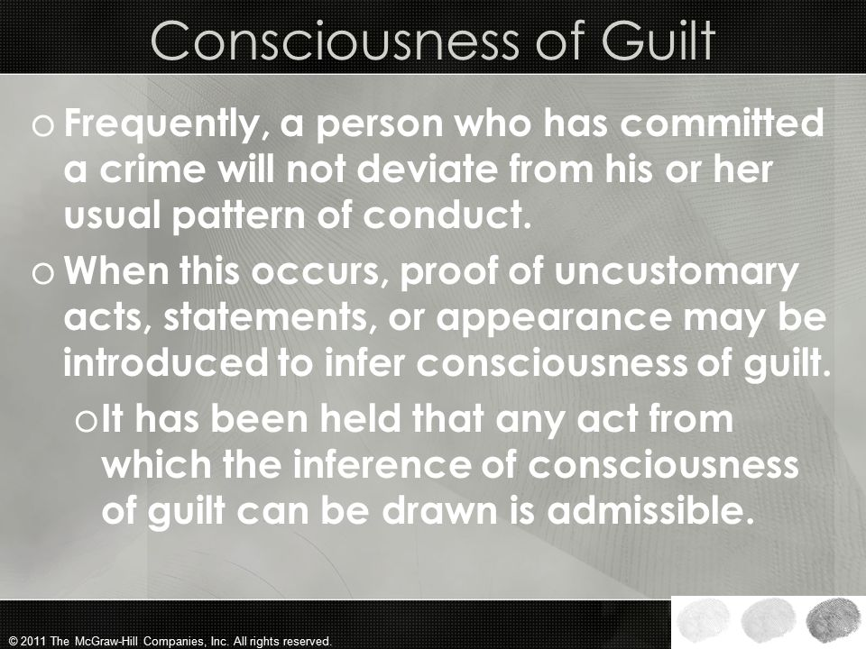 Consciousness of Guilt