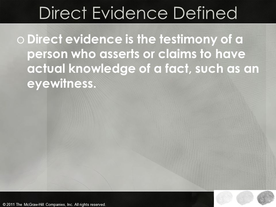 Direct Evidence Defined