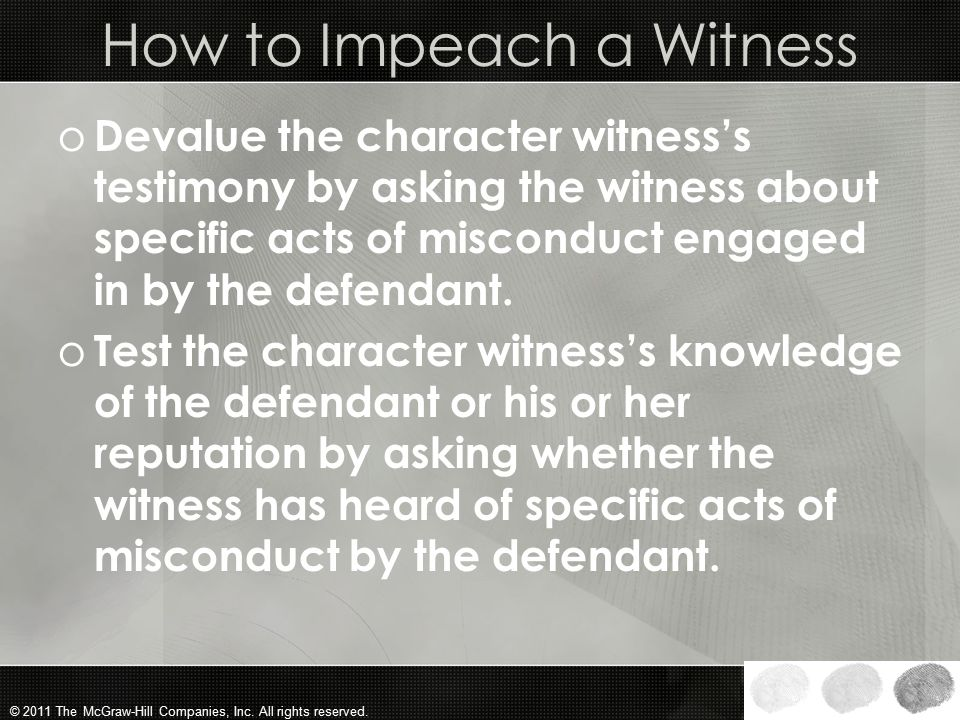 How to Impeach a Witness