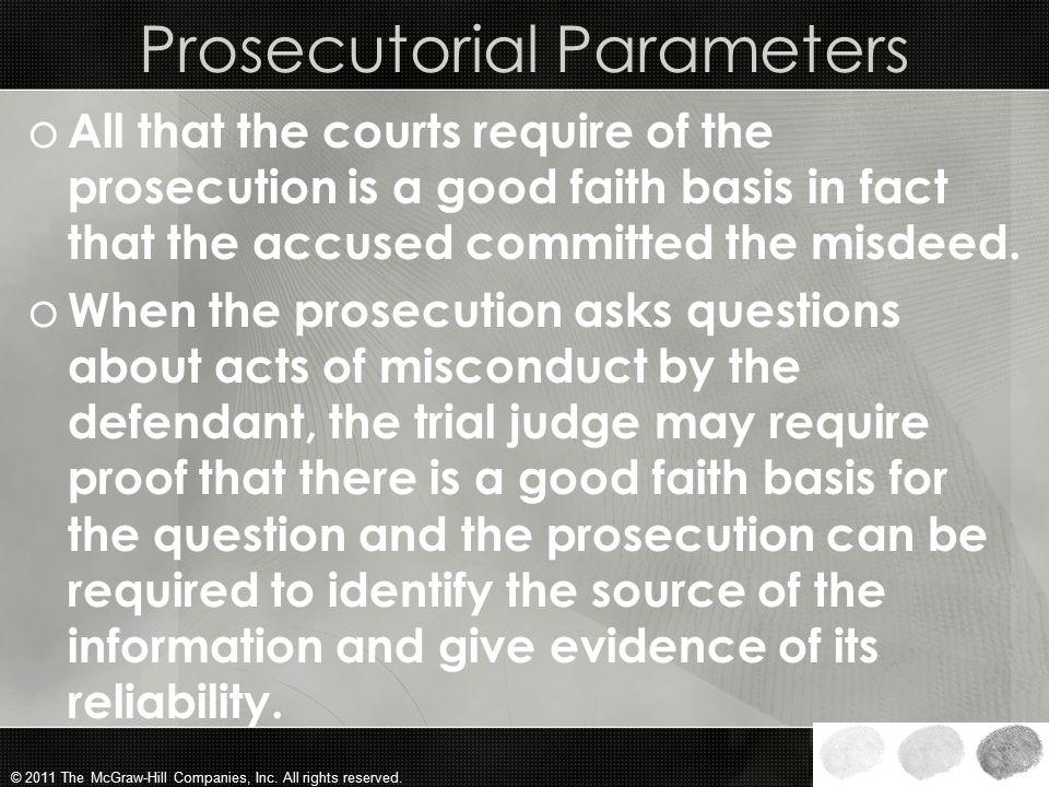 Prosecutorial Parameters