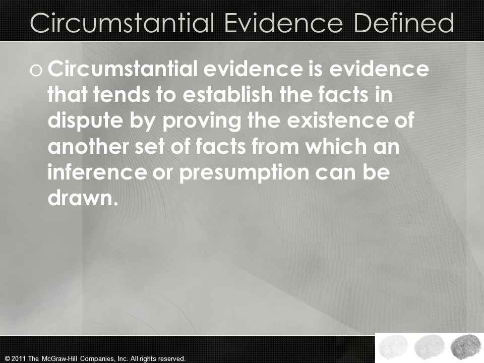 Circumstantial Evidence Defined