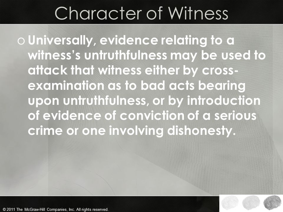 Character of Witness