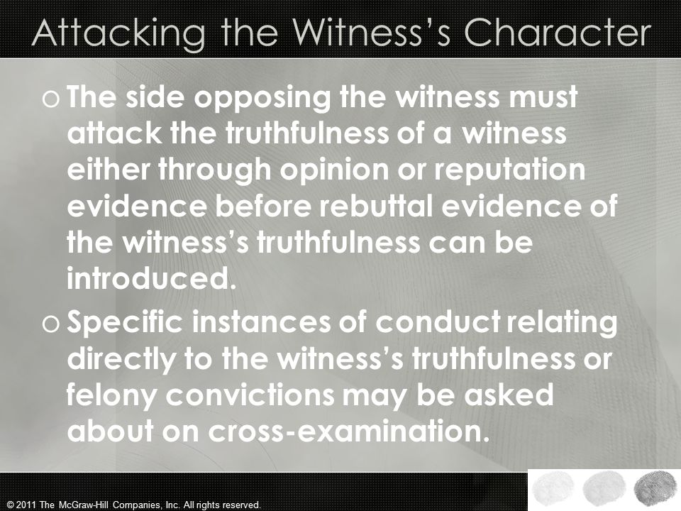 Attacking the Witness's Character