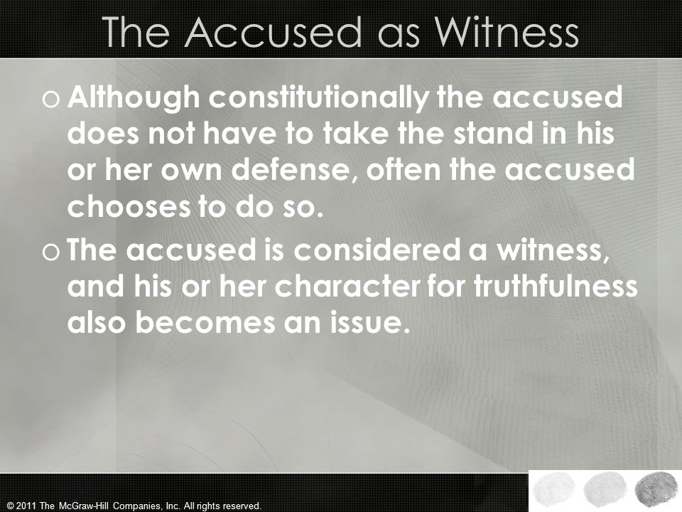 The Accused as Witness