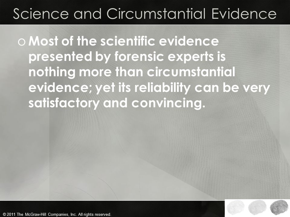 Science and Circumstantial Evidence
