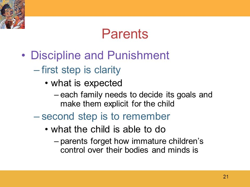 Parents Discipline and Punishment first step is clarity