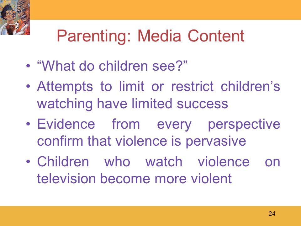 Parenting: Media Content