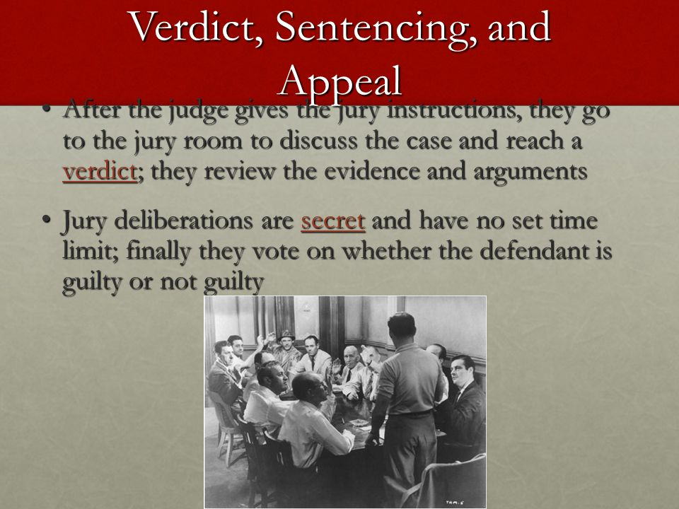 Verdict, Sentencing, and Appeal