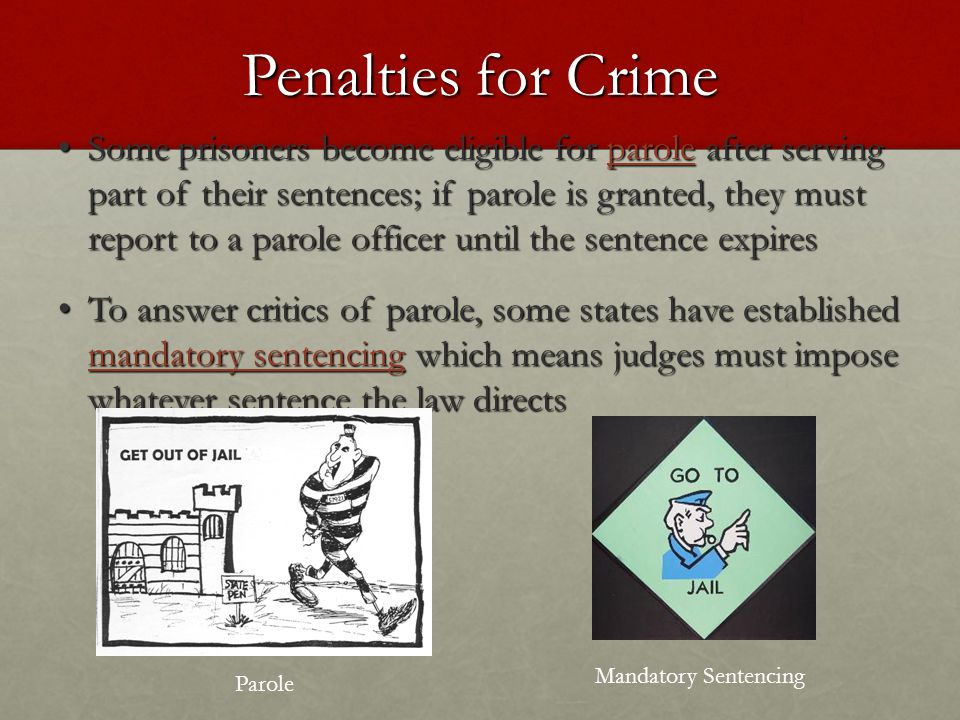 Penalties for Crime