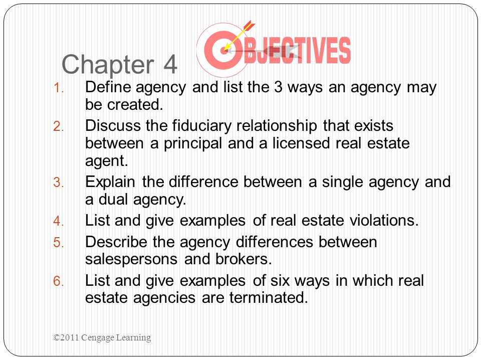 Chapter 4 Define agency and list the 3 ways an agency may be created.