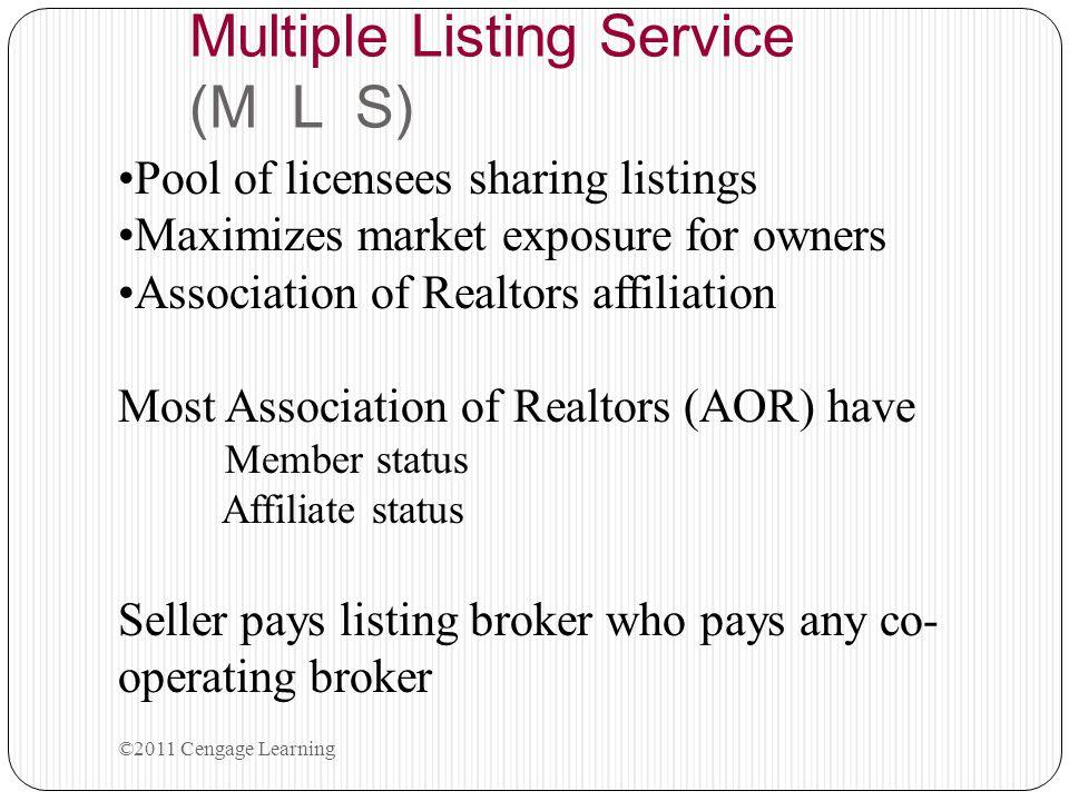 Multiple Listing Service (M L S)