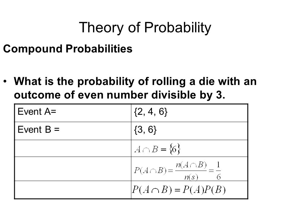 Theory of Probability Compound Probabilities