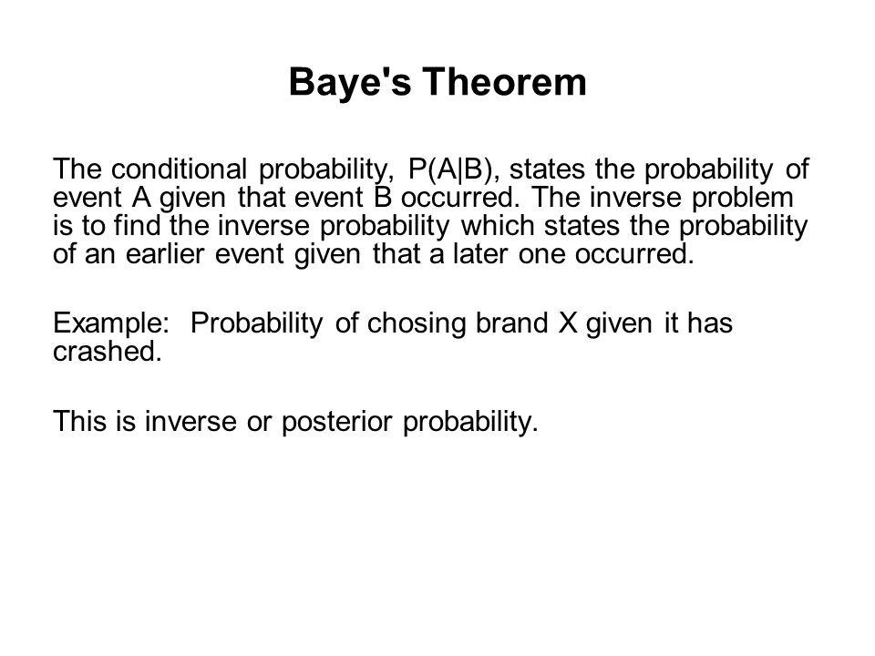 Baye s Theorem