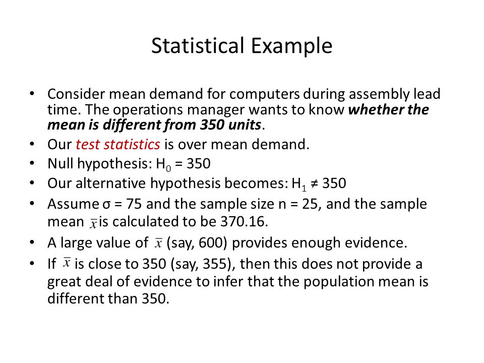 Statistical Example