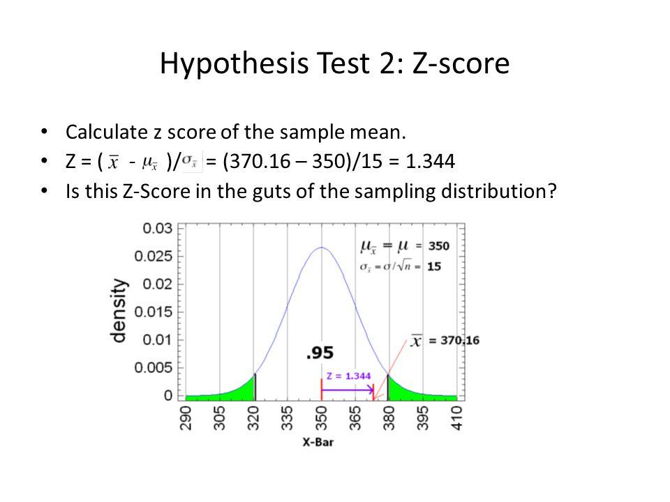 Hypothesis Test 2: Z-score