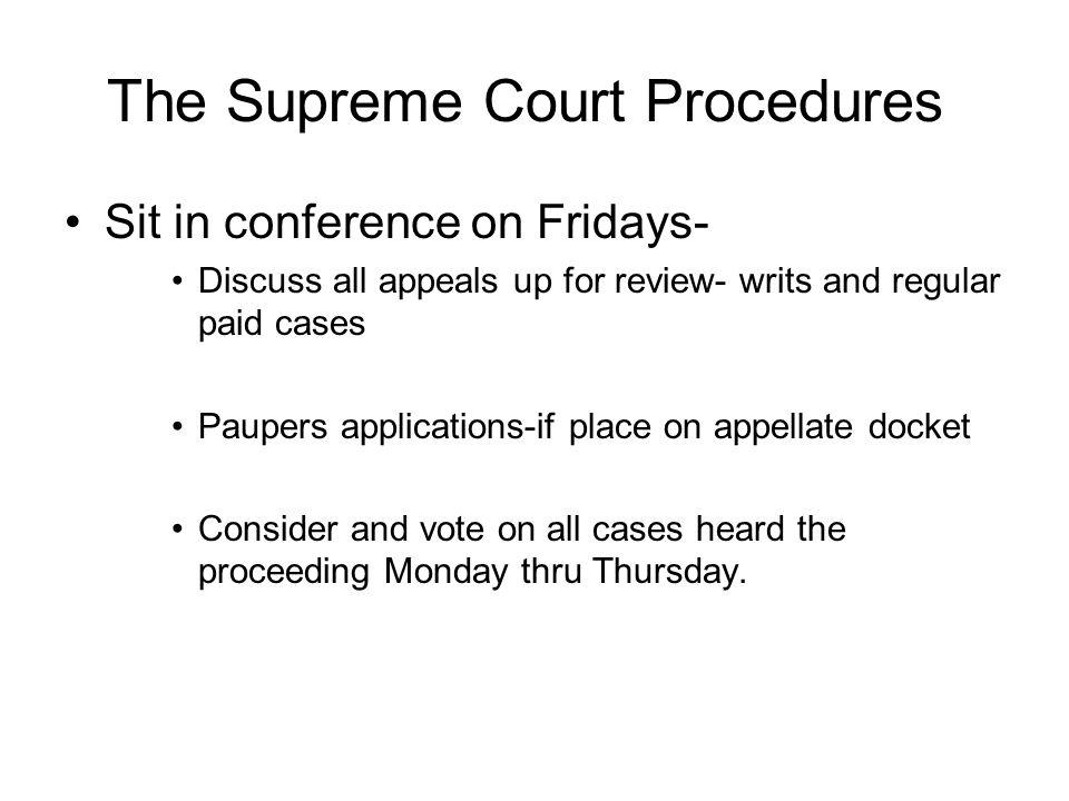 The Supreme Court Procedures