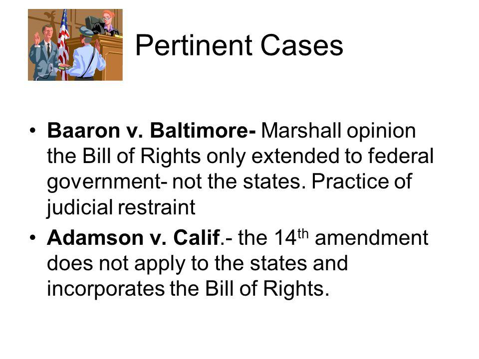 Pertinent Cases