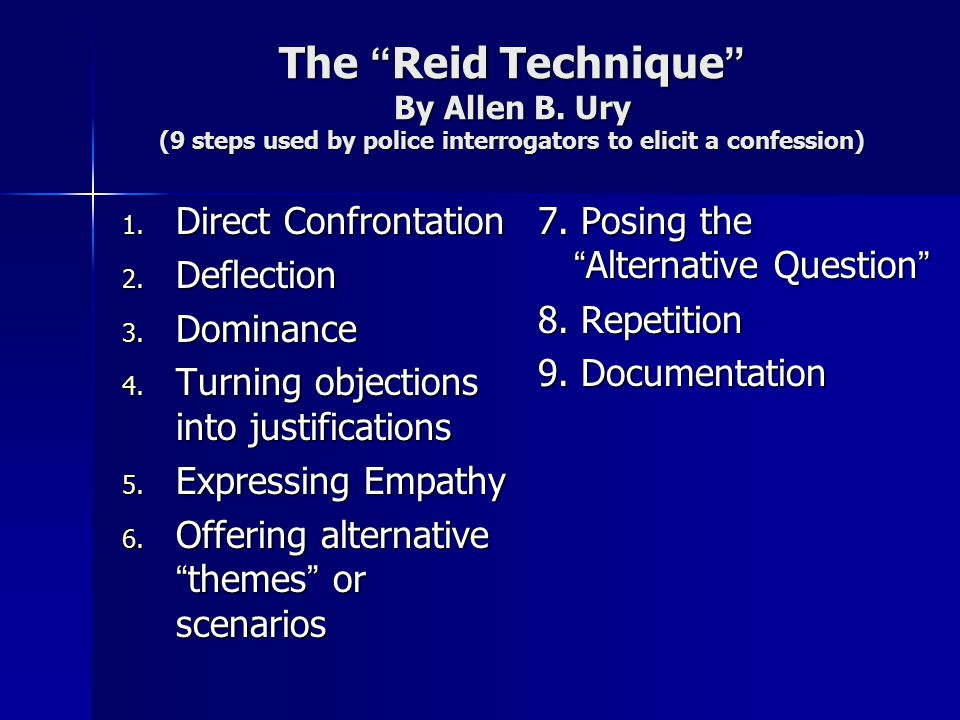 The Reid Technique By Allen B
