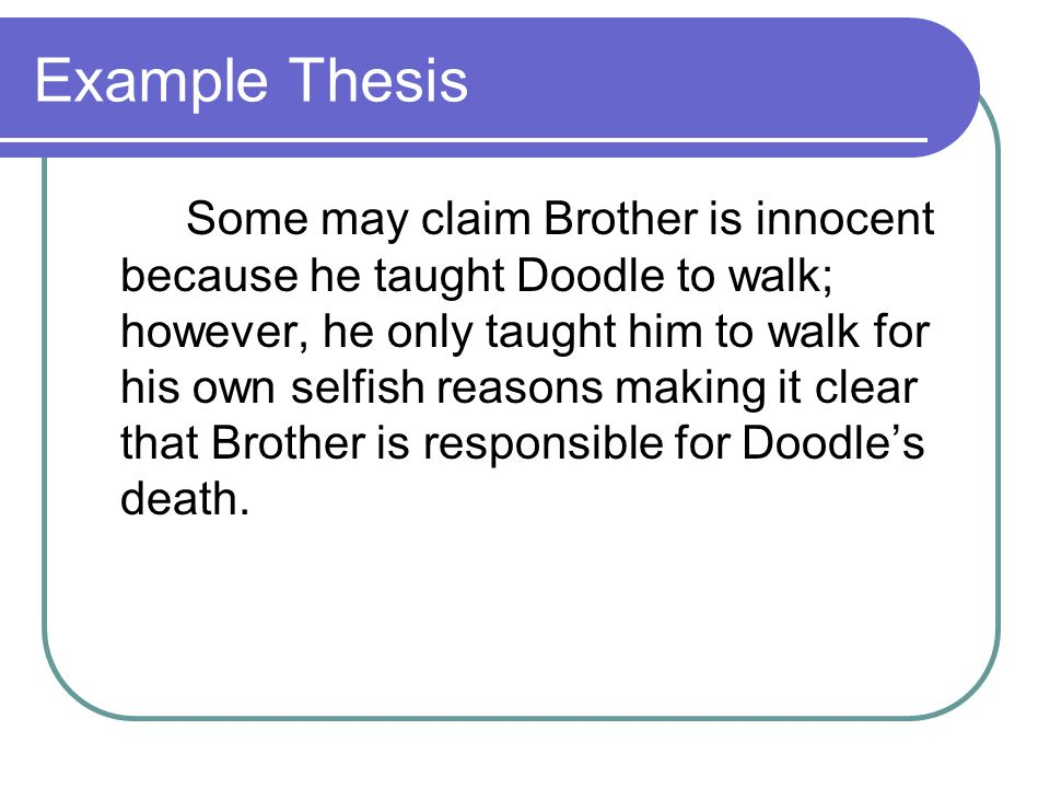 Example Thesis
