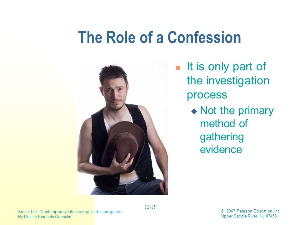 The Role of a Confession