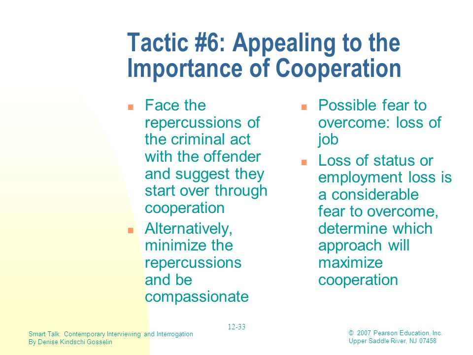 Tactic #6: Appealing to the Importance of Cooperation