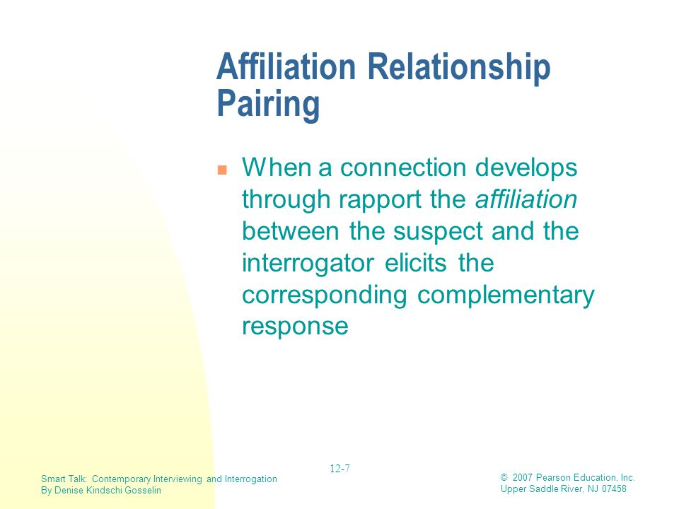 Affiliation Relationship Pairing