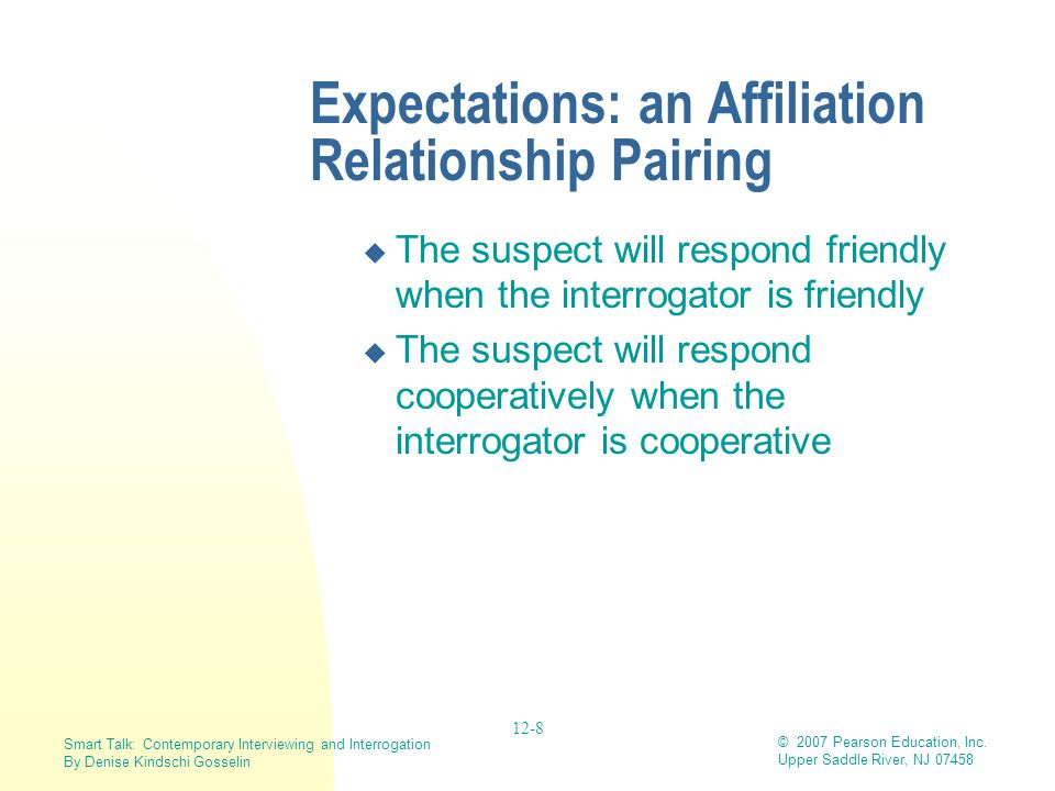 Expectations: an Affiliation Relationship Pairing