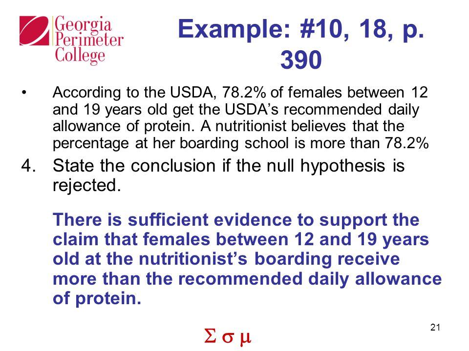 Example: #10, 18, p. 390