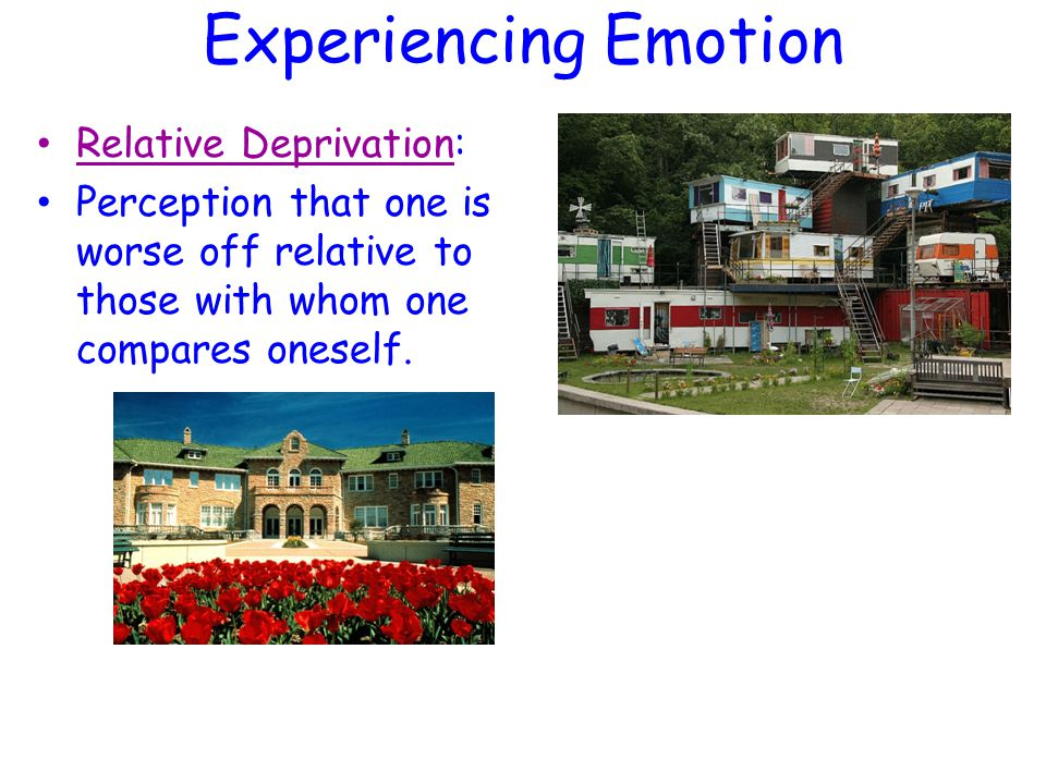 Experiencing Emotion Relative Deprivation:
