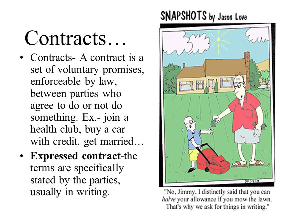 Contracts…