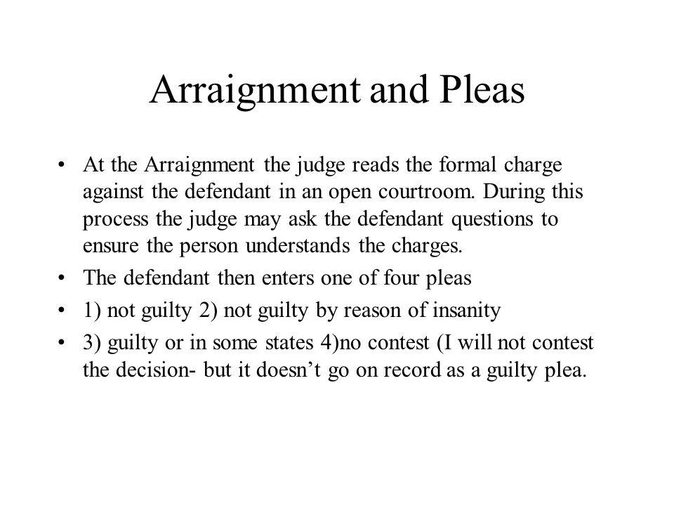 Arraignment and Pleas